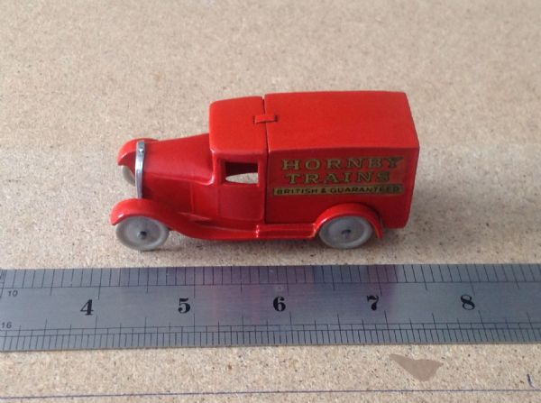 "Dinky Toys copy model 28 Series Type 1 Delivery Van ""Hornby Trains"" In an Orange Red Colour """